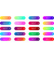 colorful next web buttons with arrow isolated on vector image vector image