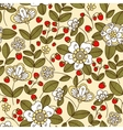 Colorful strawberry floral seamless pattern vector image