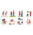couple people spend time together set lovers vector image