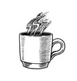 cup coffee in vintage style american vector image vector image