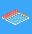 empty indoor swimming pool isolated icon vector image vector image