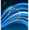 EuropeanUnion flag background vector image vector image