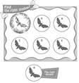 find right shadow butterfly bv vector image vector image