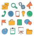 flat icons isolated vector image