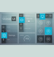 flat user interface design concept vector image