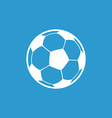 football ball icon white on blue background vector image