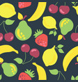 fruits seamless pattern vintage inspired vector image