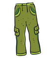green man pants on white background vector image vector image