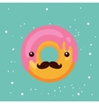 Hipster donut Delicious sweet dessert Modern cute vector image vector image