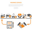 insurance services process concept vector image vector image