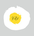 ketogenic diet lettering on hand paint egg vector image vector image