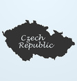 Map of Czech Republic vector image vector image