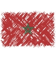 Moroccan grunge flag vector image