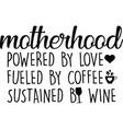 motherhood on white background vector image