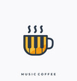 music coffee template vector image