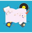 Musical notepad vector image vector image