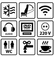 Pictograms for touristic bus vector image vector image