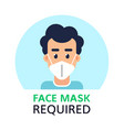 please ware a face mask flat style banner vector image