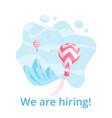 red hot air balloon job offer social media banner vector image vector image