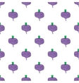 Seamless watercolor pattern with beetroot on the vector image