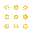 set glyph icons sun vector image