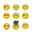 set of emogy smiley icons vector image