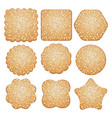 set of sugar cookies vector image vector image