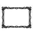 simple black rope ornamental decorative frame vector image