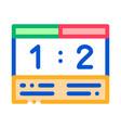 soccer scoreboard icon outline vector image vector image
