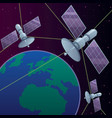 space satellite network vector image vector image