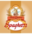 spaghetti pack label vector image vector image