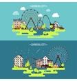 Spring summer Ferris wheel vector image