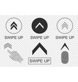 swipe up buttons set application and social vector image