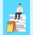 tax payment calculation accounting concept vector image