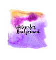 Watercolor background with lettering vector image