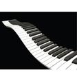 Wavy piano keys vector image