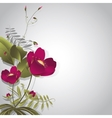 Wild flowers on gray vector image vector image