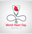 world heart day icon vector image