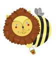 lion bee vector image