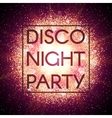 Disco night party banner on explosion background vector image