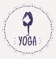 yoga asana vector image