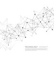 abstract connect line on science background vector image vector image