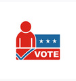 America Vote USA logo people icon vector image vector image