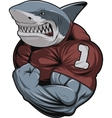 Angry white shark