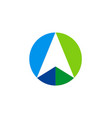 Arrow up navigation logo