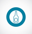 beer bottle icon bold blue circle border vector image vector image