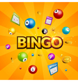 Bingo lottery poster Balls numbers falling luck vector image vector image