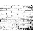 brick wall distress overlay vector image vector image
