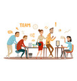 business people teamwork workers in office working vector image vector image