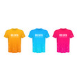 Creative of colored t-shirts